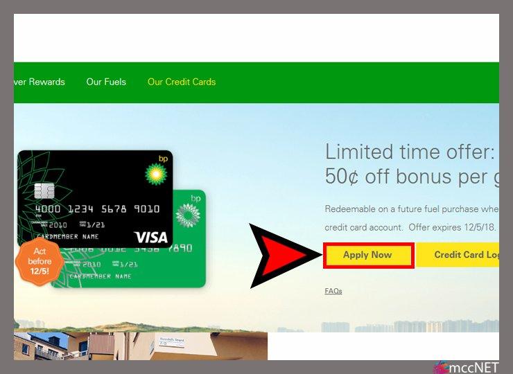 bp credit card application