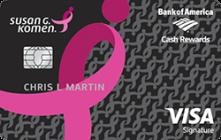 Apply for Susan G. Komen® Visa® Credit Card Online