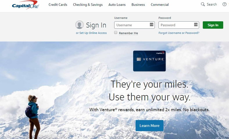 Set up online access for capital one credit card