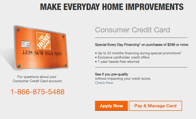 Homedepot Com Applynow Home Depot Credit Card Save Up To 100