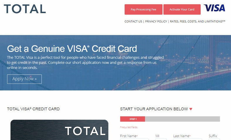 apply for total visa card rebuild your credit. Black Bedroom Furniture Sets. Home Design Ideas